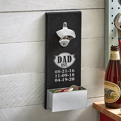 Dad Established Wood Bottle Opener