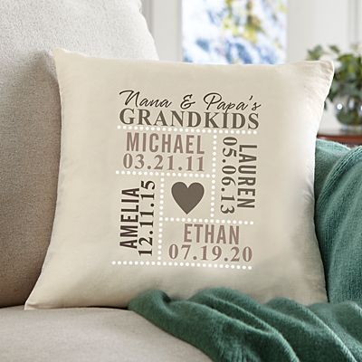 Our Grandkids Throw Pillow