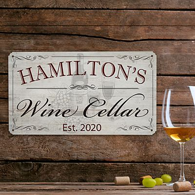 Rustic Metal Wine Signs