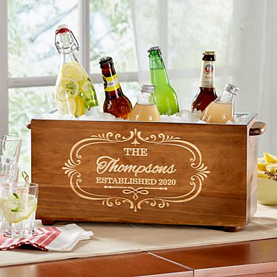 Wood Trough Beverage Chiller