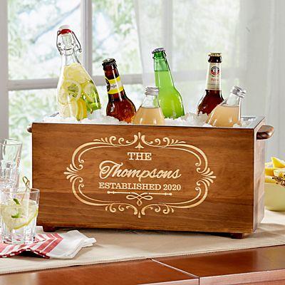 Wood Trough Beverage Chiller