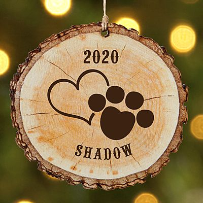 Favorite Pet Rustic Wood Round Ornament