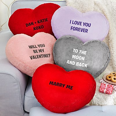Plush Heart Message Cushion