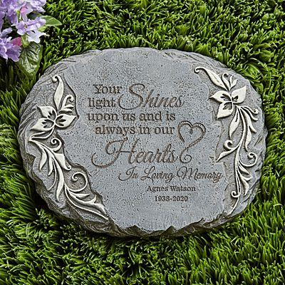 Your Light Shines Memorial Garden Stone
