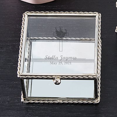 Holy Confirmation Glass Keepsake Box