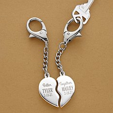 Better Together Heart Key Chain Set