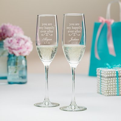 You Are My Happily Ever After Champagne Flutes
