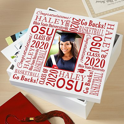 Treasured Memories Graduation Photo Keepsake Box