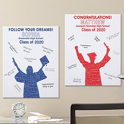 Graduation Silhouette  Signature Canvas