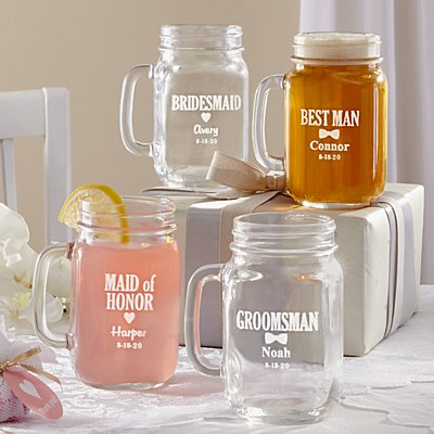 Wedding Party Mason Jar