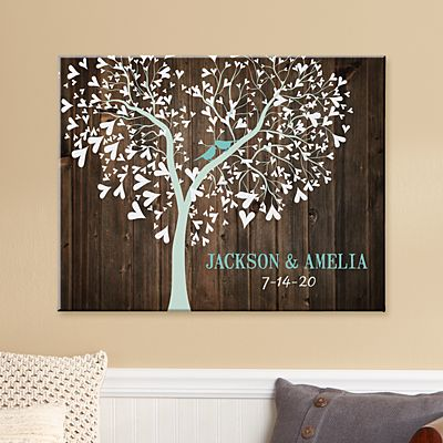 Sweet Lovebirds Canvas