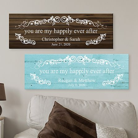 You Are My Happily Ever After Canvas Personal Creations