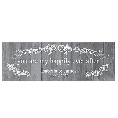 You Are My Happily Ever After Canvas - Gray-9x27