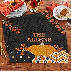 Pattern Pumpkin Placemats