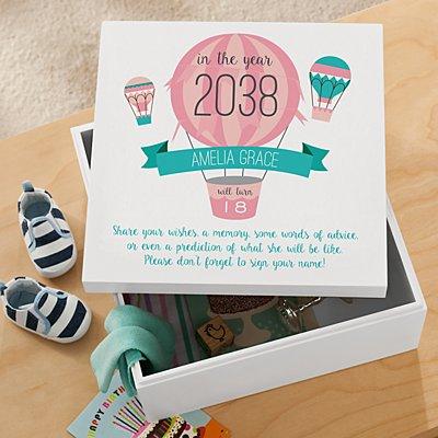New Baby Time Capsule Keepsake Box
