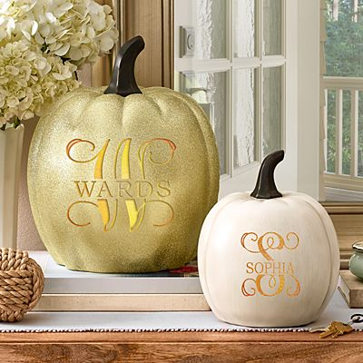 Light-Up Name & Initial Pumpkin