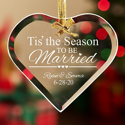 Tis' the Season to be Married  Ornament
