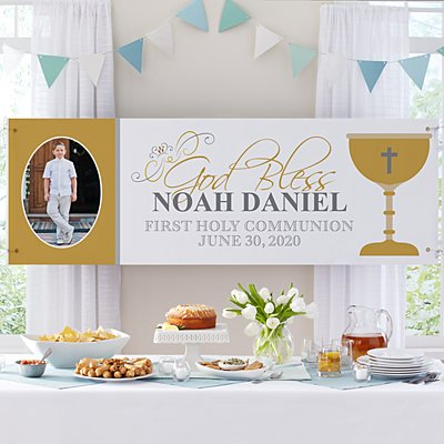 First Communion Celebration Photo Banner
