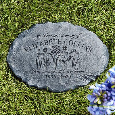 Memories Bloomed Sympathy Garden Stone