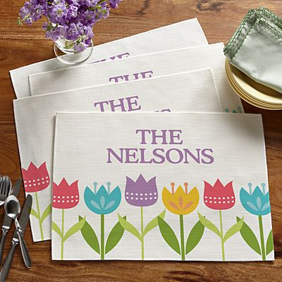Spring Tulip Placemats