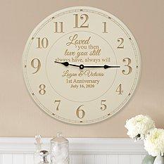 Love You Still Anniversary Wall Clock