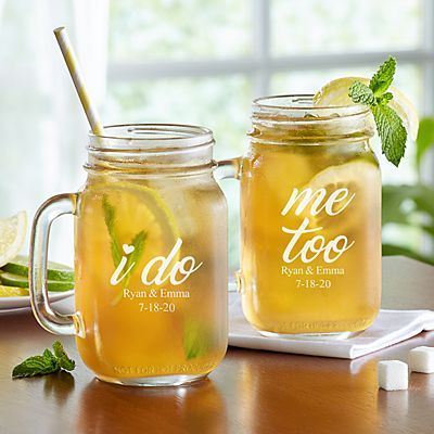 I Do, Me Too Mason Jars - Set of 2