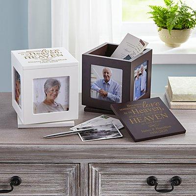 For Loved Ones In Heaven Rotating Keepsake Box