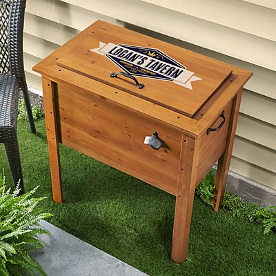 Outdoor Wooden Beverage Cooler