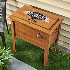 Outdoor Wooden Beverage Cooler