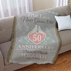 True Love Anniversary Throw