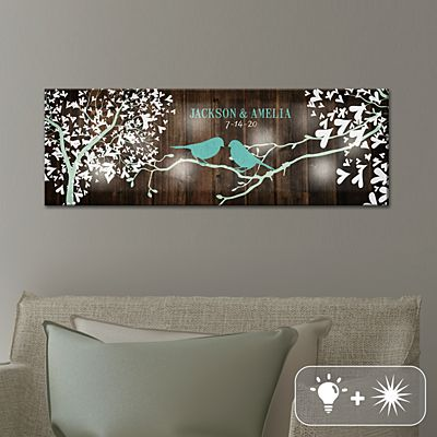 TwinkleBright® LED Sweet Lovebirds Canvas