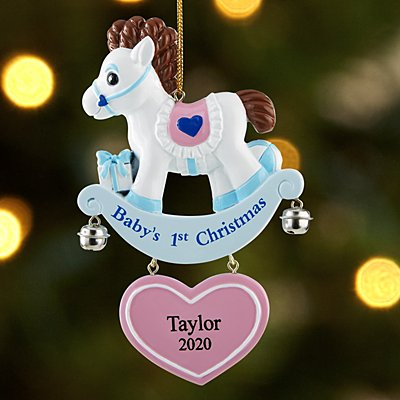 Baby's 1st Christmas Rocking Horse Bauble