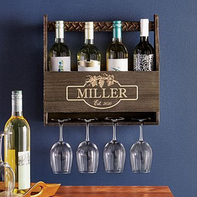 Rustic Wood Wine Rack
