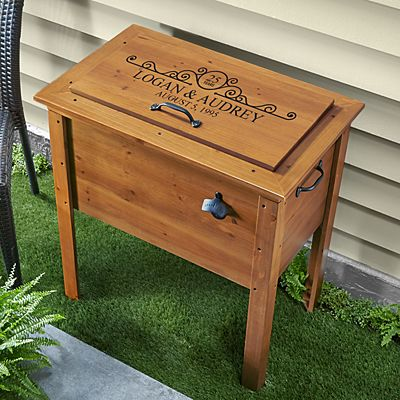 Years of Bliss Wooden Beverage Cooler