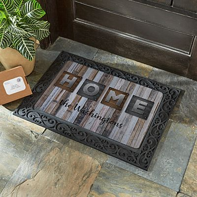 Rustic Plank Wood Doormat