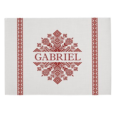 Classic Snowflake Placemat - White