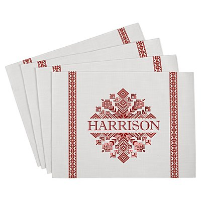 Classic Snowflake Placemat - White - Set of 4