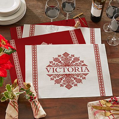 Classic Snowflake Placemats