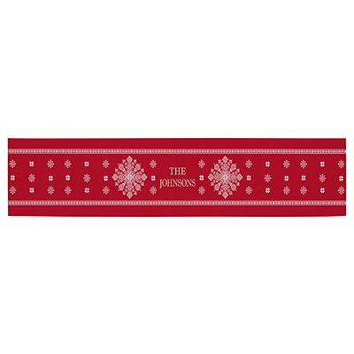 Classic Snowflake Table Runner - Red