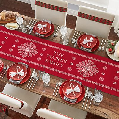 Classic Snowflake Table Runner