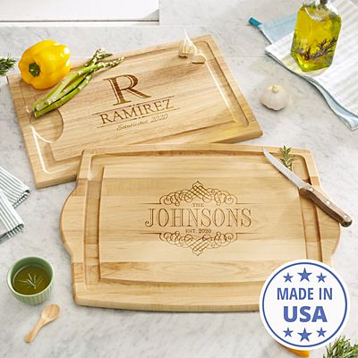 Decorative Name Wood Cutting Board