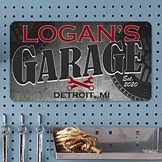 His Garage Metal Sign