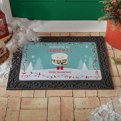 Lovable Marshmallow Holiday Doormat
