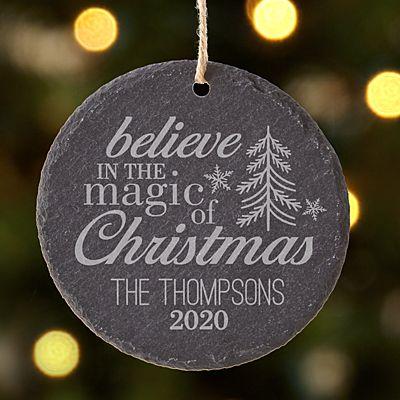 Magic of Christmas Round Slate Ornament