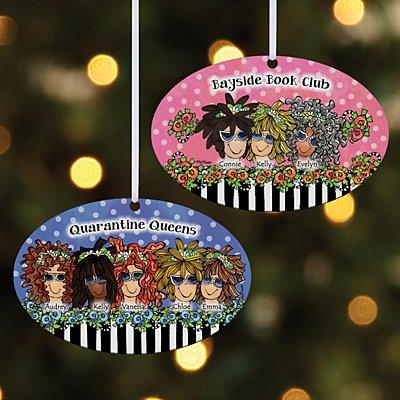 Name Your Sisterhood Oval Ornament by Suzy Toronto