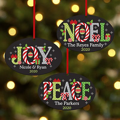 Spirit of the Season Oval Ornament