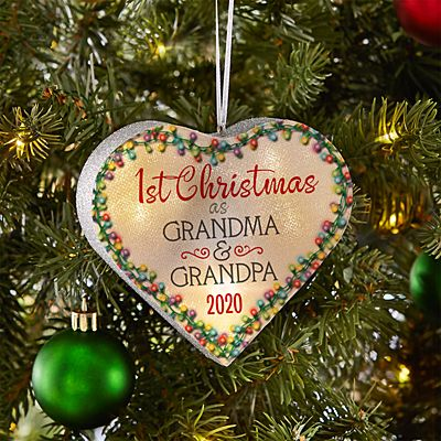TwinkleBright® LED 1st Christmas Heart Ornament