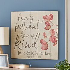 Love is Patient Oversized Wood Pallet Wall Art
