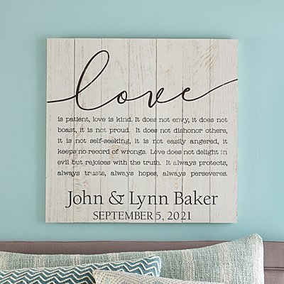 Love Script Paragraph Oversized Wood Pallet Wall Art