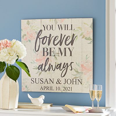 You Will Forever Be My Always Oversized Wood Pallet Wall Art